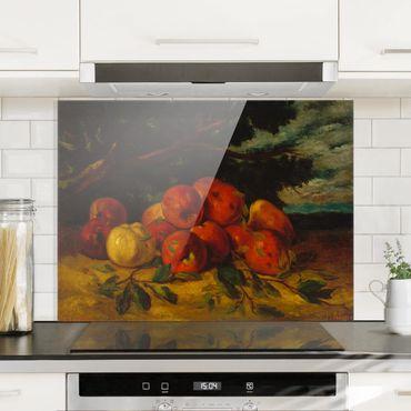 Spritzschutz Glas - Gustave Courbet - Apfelstillleben - Quer 4:3
