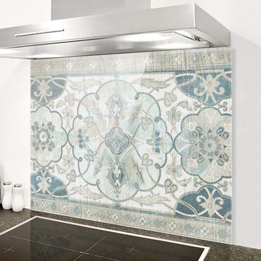 Spritzschutz Glas - Holzpaneel Persisch Vintage II - Querformat 3:4
