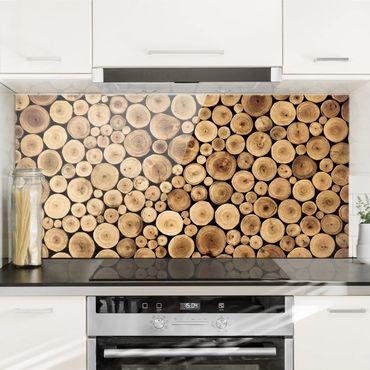 Spritzschutz Glas - Homey Firewood - Quer 2:1