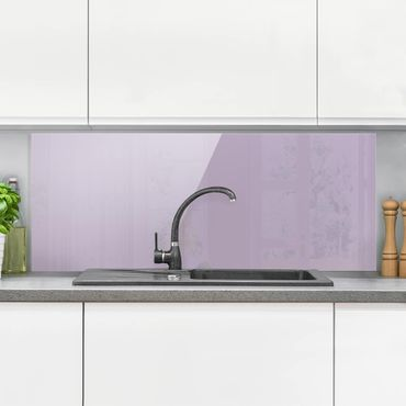 Spritzschutz Glas - Lavendel - Panorama Quer