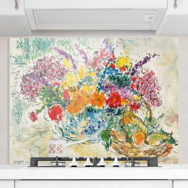 Spritzschutz Glas - Marc Chagall - Obst und Blumen - Quer 4:3