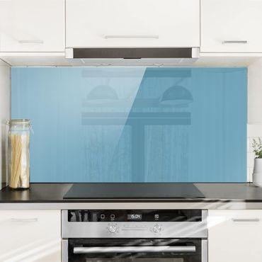 Spritzschutz Glas - Meerblau - Quer 2:1