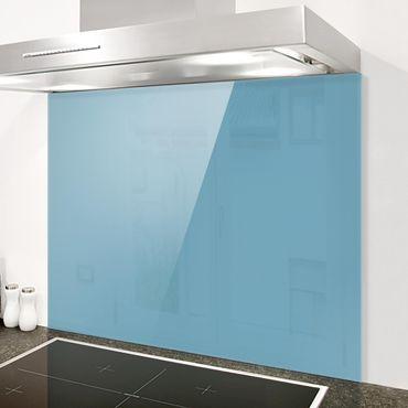 Spritzschutz Glas - Meerblau - Quer 4:3