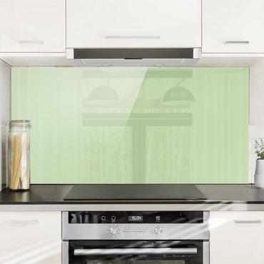 Spritzschutz Glas - Mint - Quer 2:1