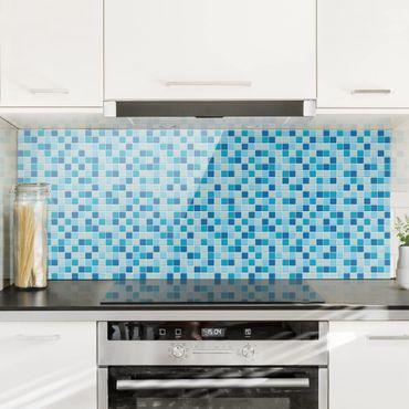 Spritzschutz Glas - Mosaikfliesen Meeresrauschen - Panorama