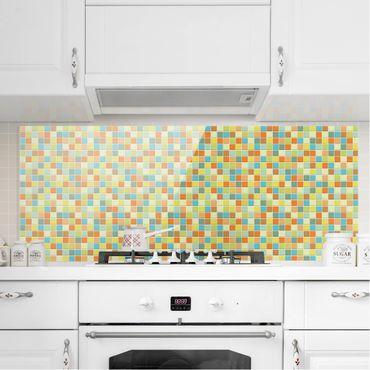 Spritzschutz Glas - Mosaikfliesen Sommerset - Panorama