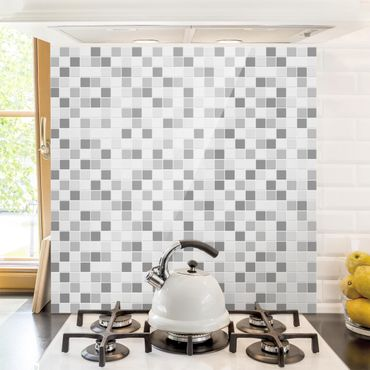 Spritzschutz Glas - Mosaikfliesen Winterset - Quadrat 1:1