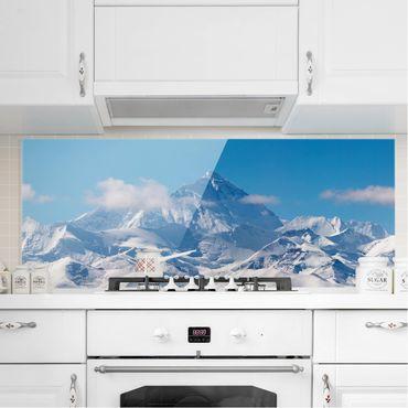 Spritzschutz Glas - Mount Everest - Panorama Quer