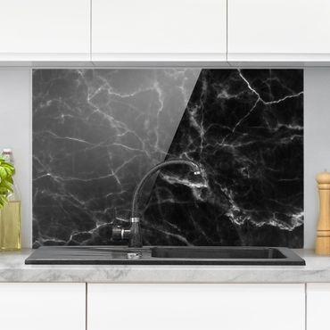 Spritzschutz Glas - Nero Carrara - Quer 3:2