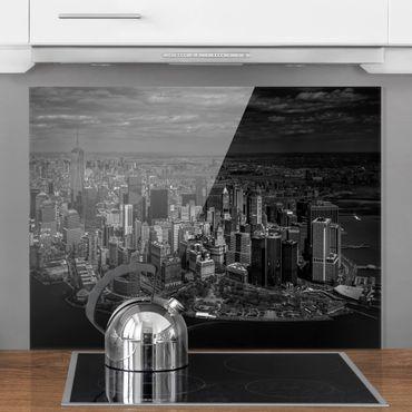 Spritzschutz Glas - New York - Manhattan aus der Luft - Querformat 3:4