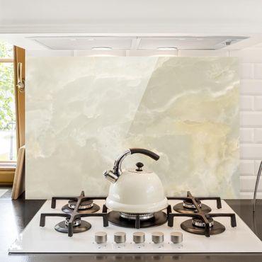 Spritzschutz Glas - Onyx Marmor Creme - Quer 3:2