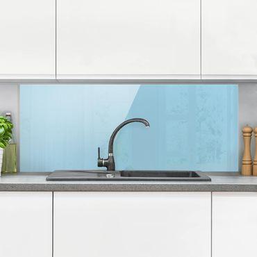 Spritzschutz Glas - Pastellblau - Panorama Quer