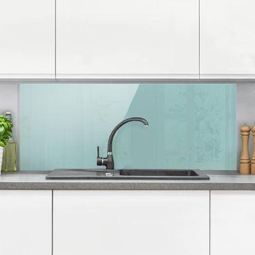Spritzschutz Glas - Pastelltürkis - Panorama Quer