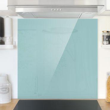 Spritzschutz Glas - Pastelltürkis - Quadrat 1:1