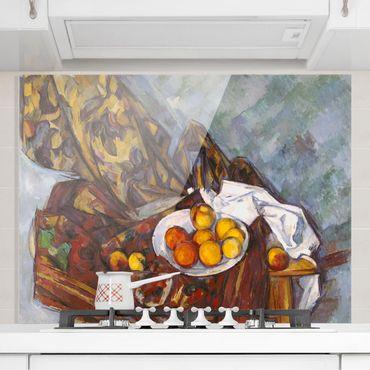 Spritzschutz Glas - Paul Cézanne - Stillleben Früchte - Quer 4:3