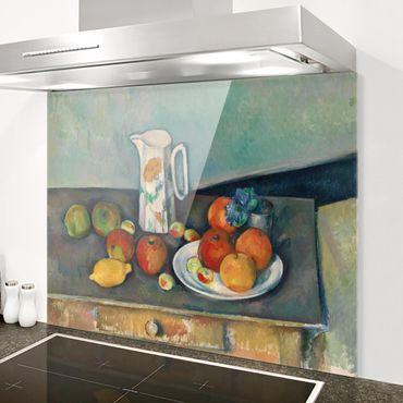 Spritzschutz Glas - Paul Cézanne - Stillleben Milchkrug - Quer 4:3