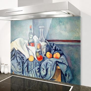Spritzschutz Glas - Paul Cézanne - Stillleben Pfirsiche - Quer 4:3