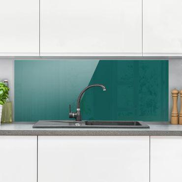 Spritzschutz Glas - Piniengrün - Panorama Quer