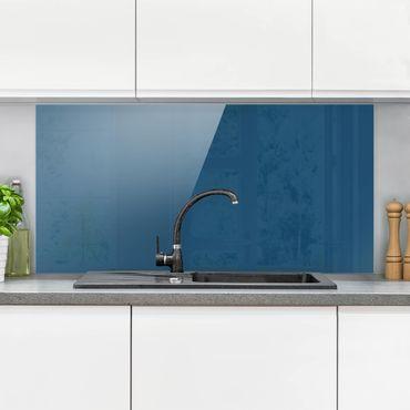 Spritzschutz Glas - Preussisch-Blau - Quer 2:1