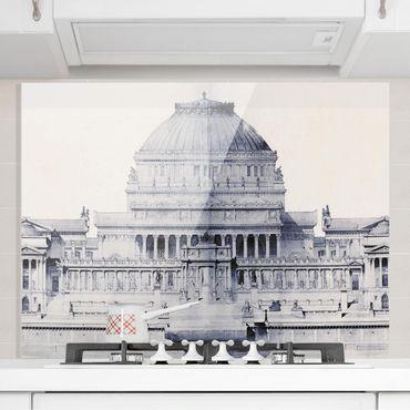 Spritzschutz Glas - Prix de Rome Skizze I - Querformat 3:4
