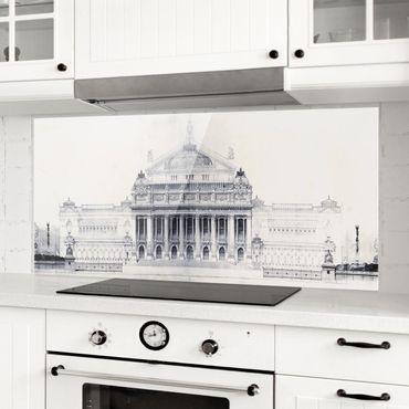 Spritzschutz Glas - Prix de Rome Skizze II - Panorama