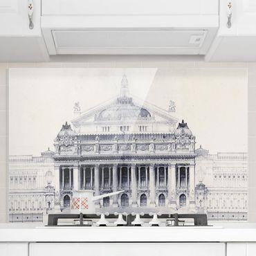 Spritzschutz Glas - Prix de Rome Skizze II - Querformat 2:3