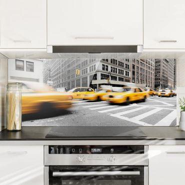 Spritzschutz Glas - Rasantes New York - Panorama Quer