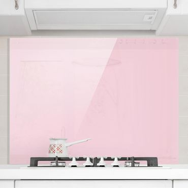 Spritzschutz Glas - Rosé - Quer 4:3