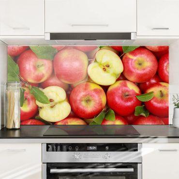 Spritzschutz Glas - Saftige Äpfel - Quer 2:1