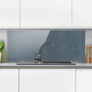 Spritzschutz Glas - Schieferblau - Panorama Quer