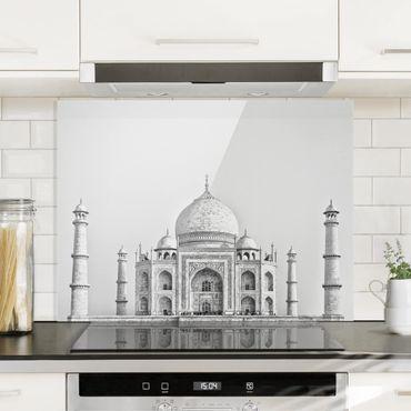 Spritzschutz Glas - Taj Mahal in Grau - Querformat 3:4