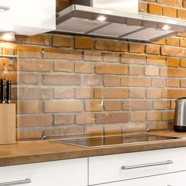 Spritzschutz Küche Glas transparent inkl. Klemmbefestigung - Querformat 3:2