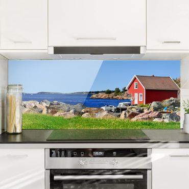 Spritzschutz Glas - Urlaub in Norwegen - Panorama Quer
