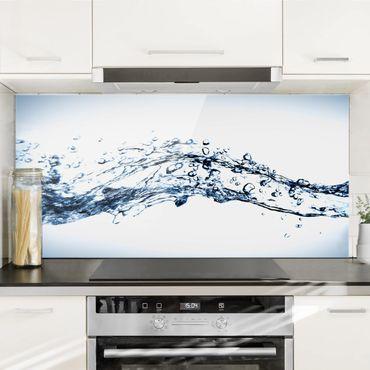 Spritzschutz Glas - Water Splash - Quer 2:1