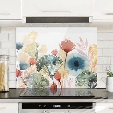 Spritzschutz Glas - Wildblumen im Sommer I - Querformat 3:4
