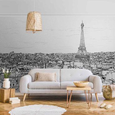 Metallic Tapete  - Stadtstudie - Paris