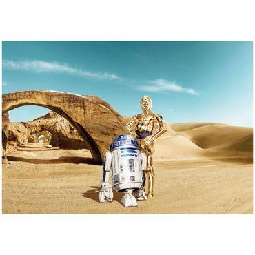 Star Wars Tapete - C-3PO & R2-D2 Tatooine- Komar Fototapete
