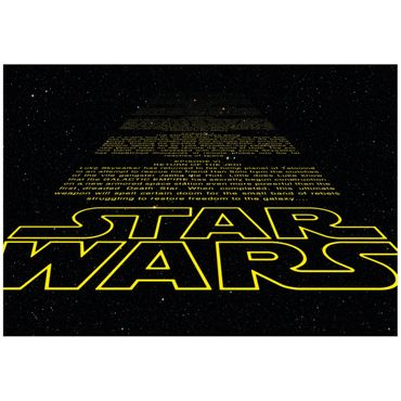 Star Wars Tapete - Film Intro - Komar Fototapete