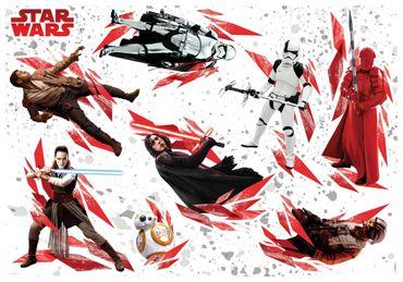 Star Wars Wandtattoo Kinderzimmer - Die letzten Jedi - Komar Deco-Sticker