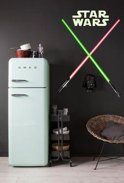Star Wars Wandtattoo - Lichtschwerter - Komar Deco-Sticker