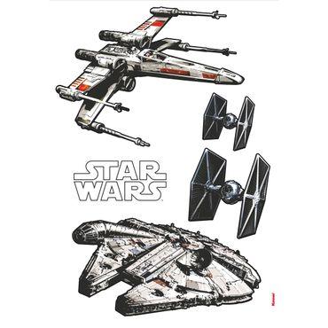 Star Wars Wandtattoo - Raumschiffe Set - Komar Deco-Sticker
