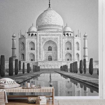 Metallic Tapete  - Taj Mahal mit Garten
