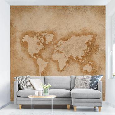Fototapete Antike Weltkarte