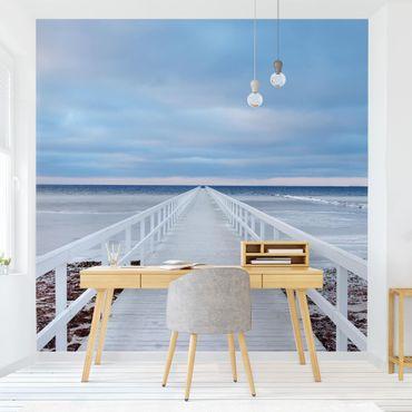 Fototapete - Brücke in Schweden