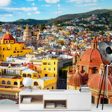 Fototapete Bunte Häuser Guanajuato