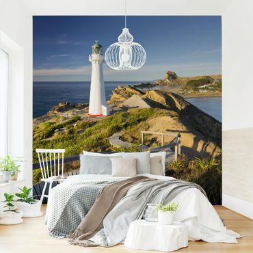 Fototapete - Castle Point Leuchtturm Neuseeland