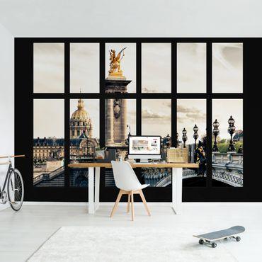 Fototapete Fenster Pont Alexandre Paris