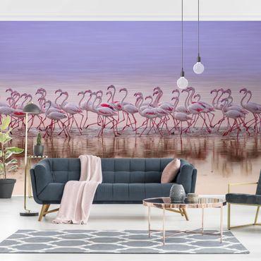 Fototapete - Flamingo Party
