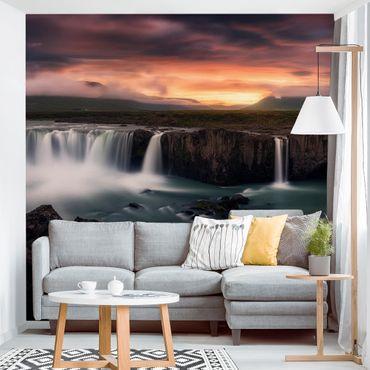Fototapete Goðafoss Wasserfall in Island