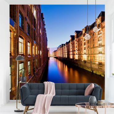 Fototapete Hamburg Speicherstadt